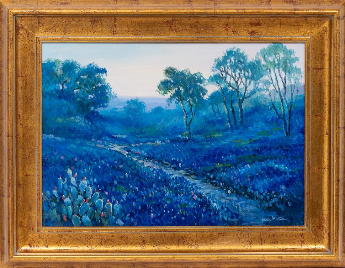 "Hardy Martin, ""Bluebonnet Evening"", oil on board - 2"