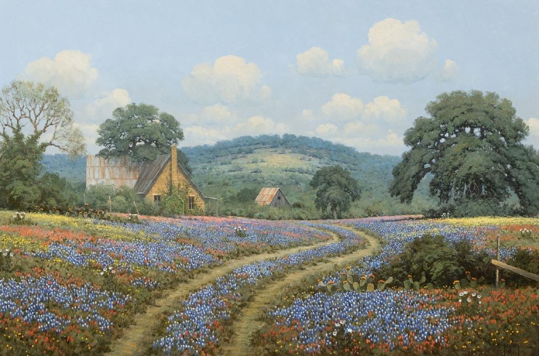 Randy Peyton (b. 1958), Bluebonnets, 1987, oil