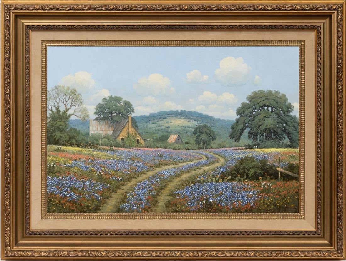 Randy Peyton (b. 1958), Bluebonnets, 1987, oil - 2