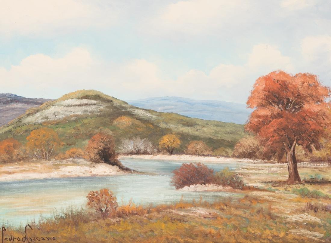 Pedro Lazcano (1909-1973), River Landscape, oil