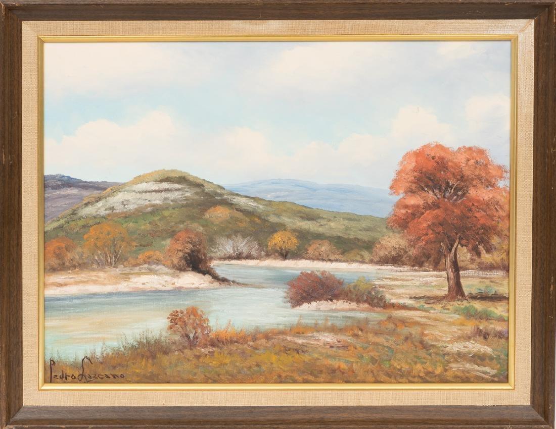Pedro Lazcano (1909-1973), River Landscape, oil - 2