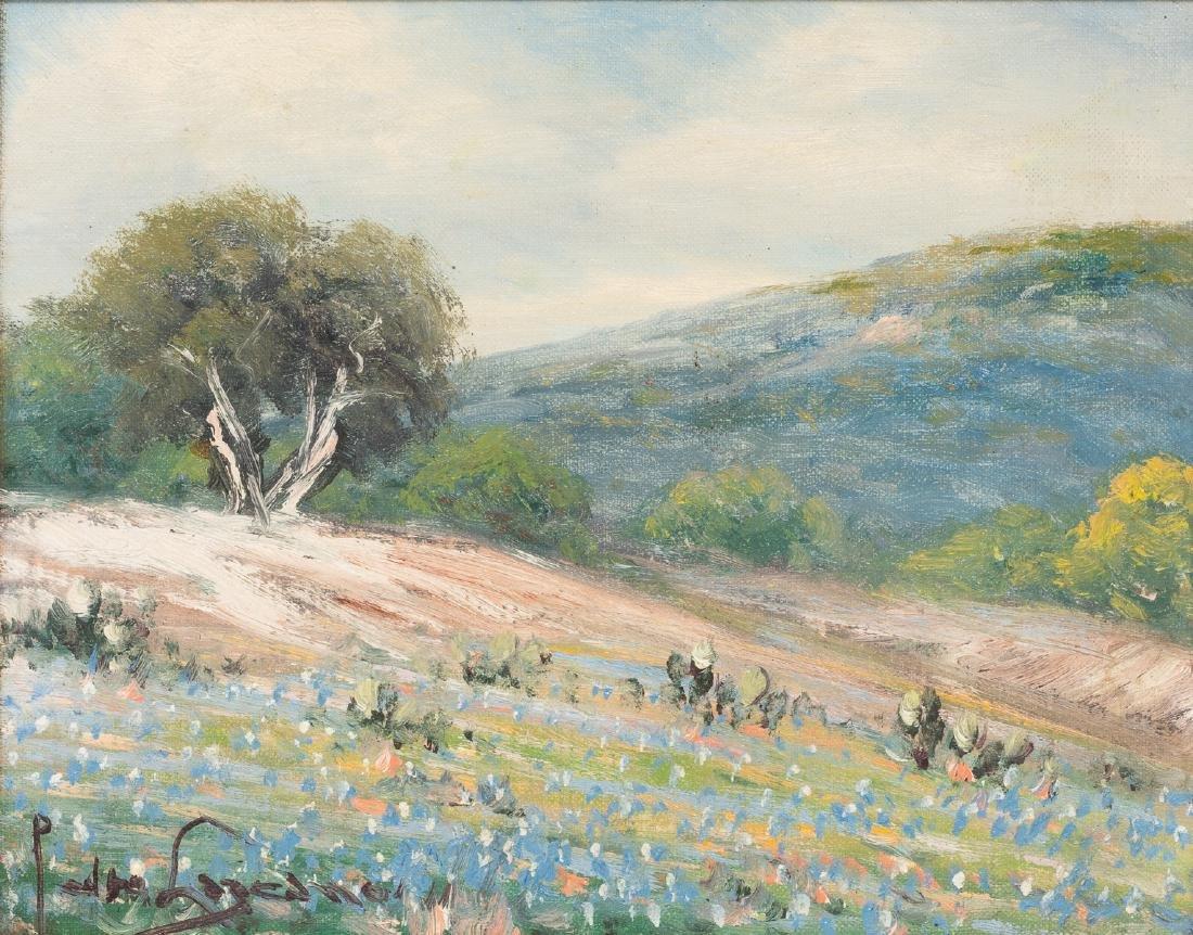 Pedro Lazcano (1909-1973), Bluebonnets, oil