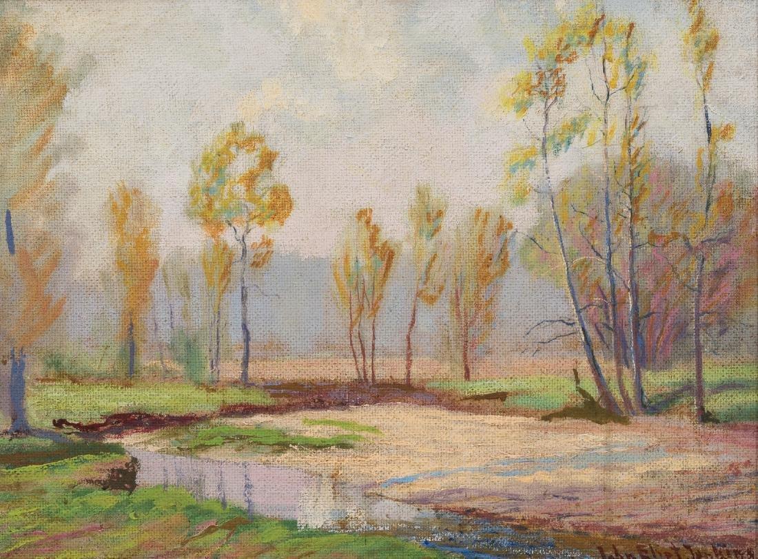 "John Elliot Jenkins (1868-1937), ""Quiet Stream"", oil"
