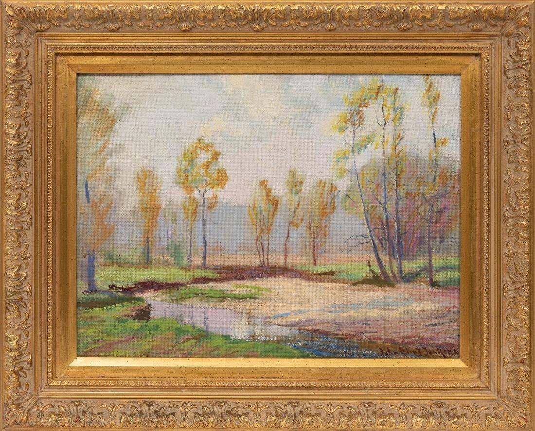 "John Elliot Jenkins (1868-1937), ""Quiet Stream"", oil - 2"