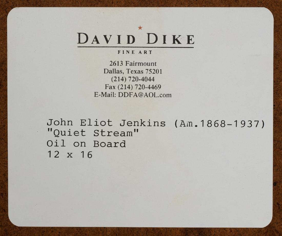 "John Elliot Jenkins (1868-1937), ""Quiet Stream"", oil - 5"