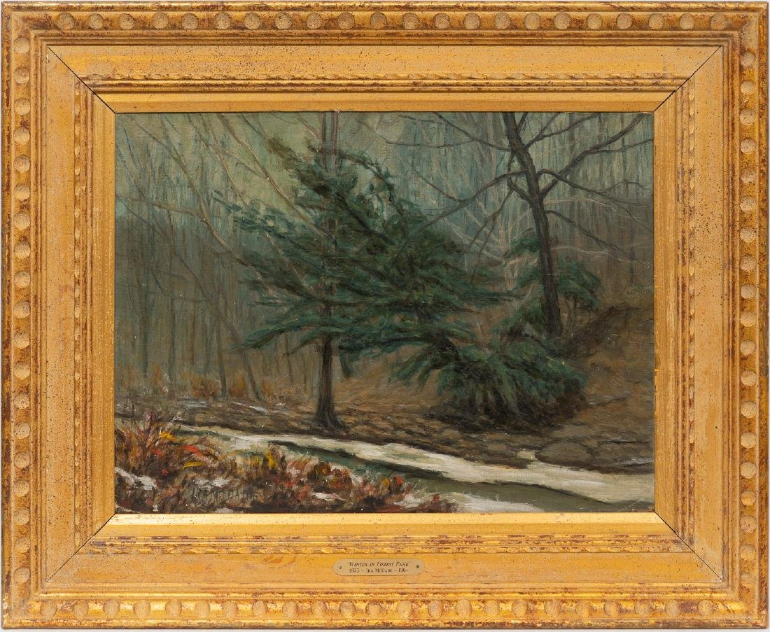 """Ira McDade (1867-1951), """"Winter in Forest Park"""", 1934, - 2"""