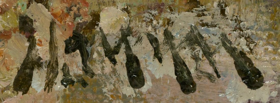 "Robert Hamman, ""Blooming Cactus by the River"", oil - 3"