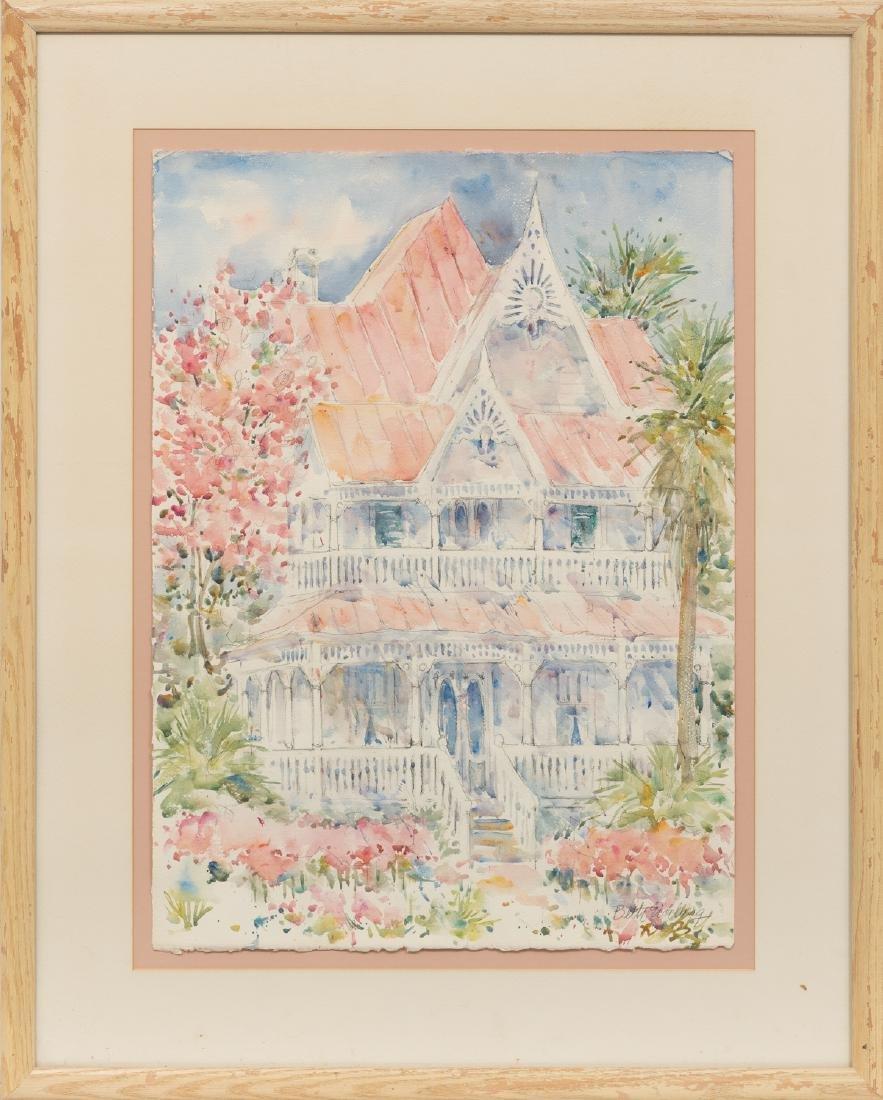 Beth Eidelberg (1933-2018), Victorian Home, watercolor, - 2
