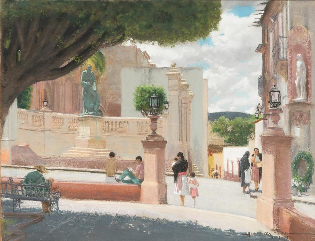 "Harry Worthman (1909-1989), ""San Miguel"", 1967, pastel"