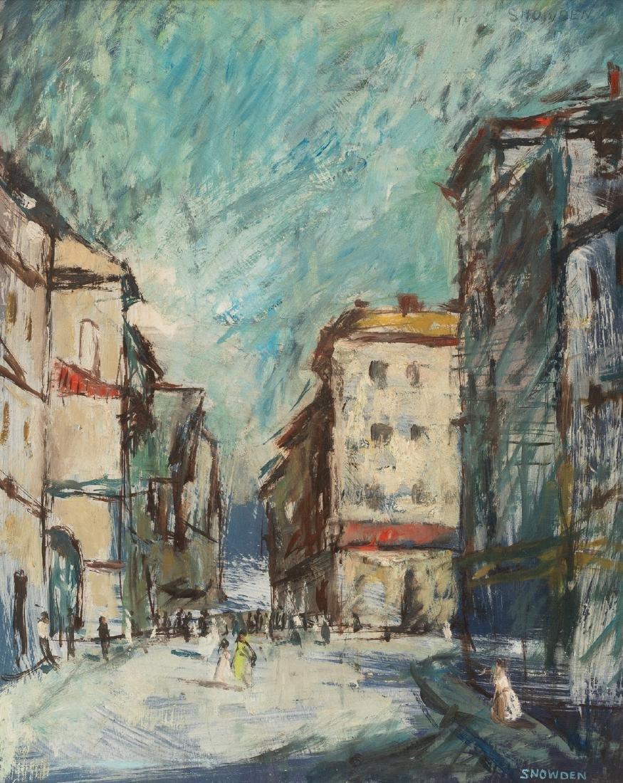 Chester Snowden (1900-1984), Modernist Street Scene,