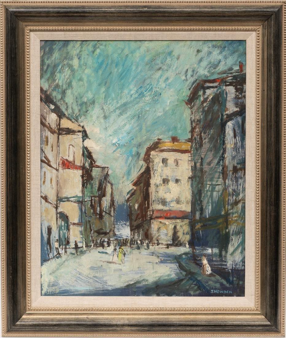 Chester Snowden (1900-1984), Modernist Street Scene, - 2