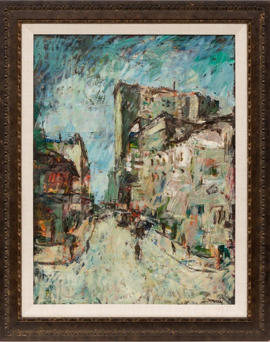 Chester Snowden (1900-1984), Expressionist Street Scene - 2