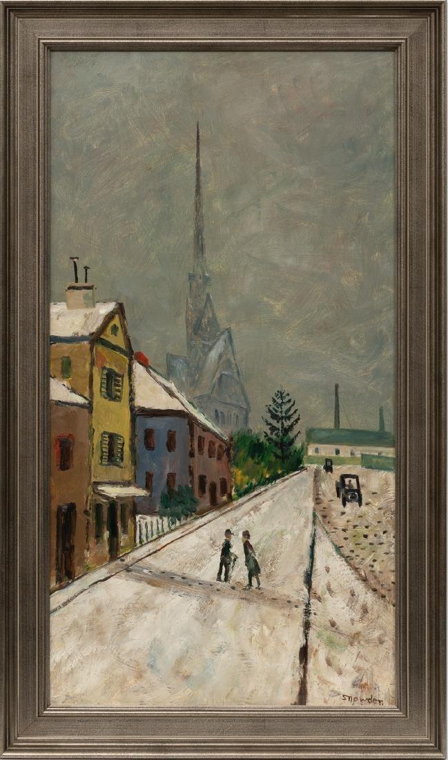 Chester Snowden (1900-1984), Village Church, oil - 2