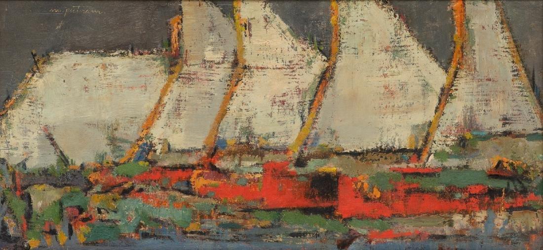 Margaret Putnam (1913-1989), Sailboats, oil on board,