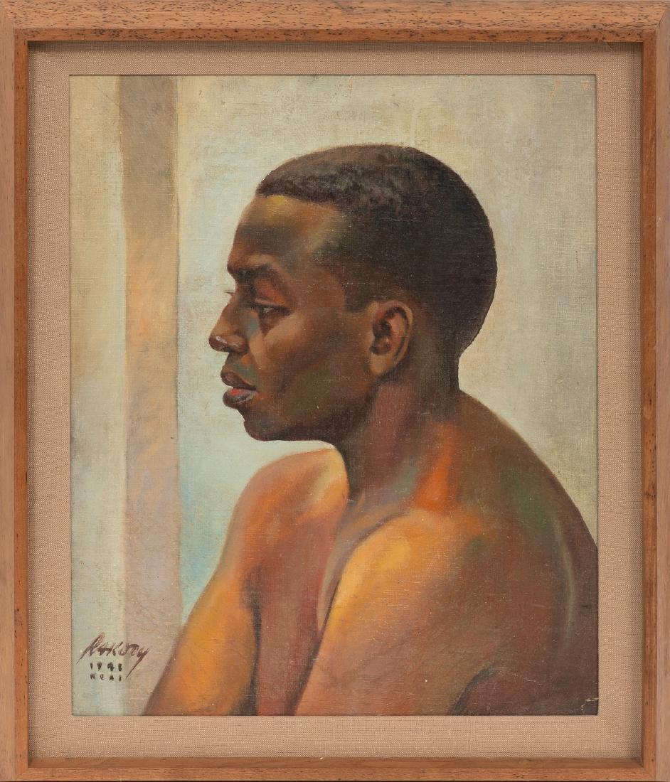 Bill Rakocy (1924-2015), Portrait: African-American Man - 2