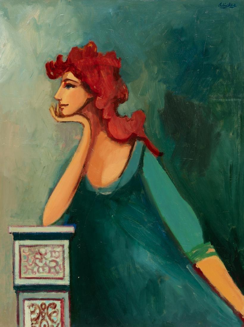David Adickes (b. 1927), Pose, oil on canvasboard,