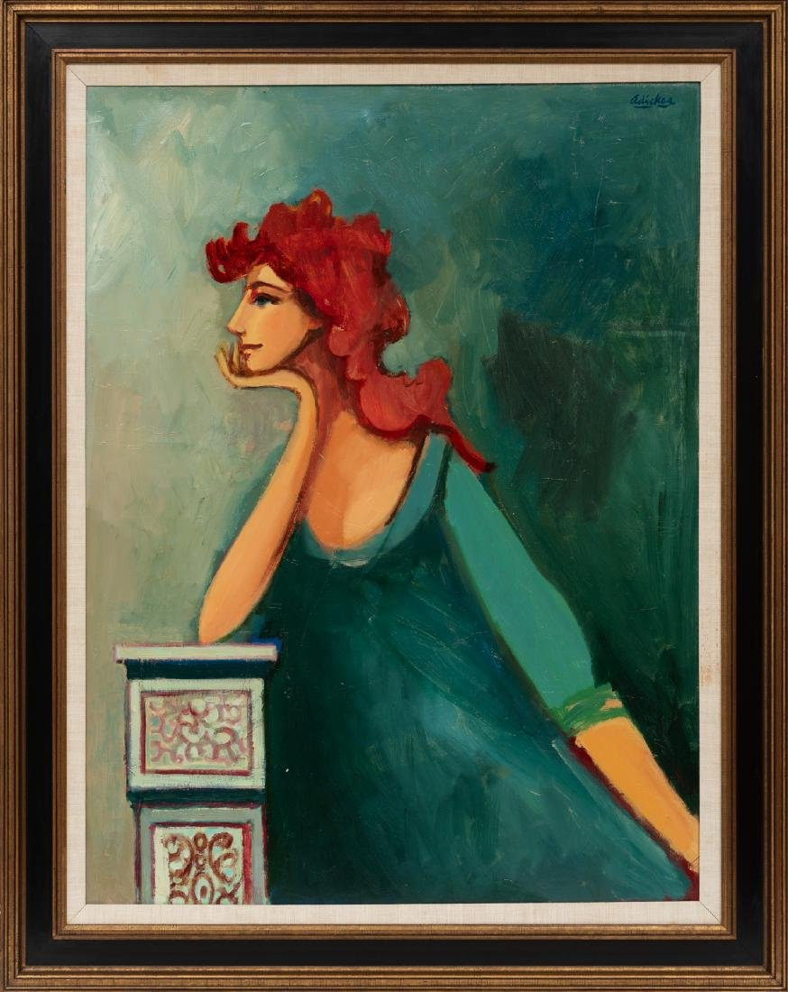 David Adickes (b. 1927), Pose, oil on canvasboard, - 2