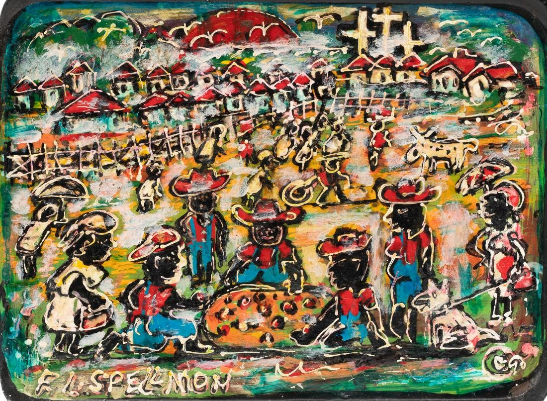 """F.L. """"Doc"""" Spellmon (1925-2008), """"The Marble Shooters"""","""