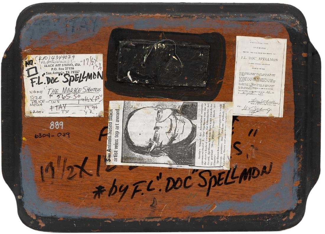 """F.L. """"Doc"""" Spellmon (1925-2008), """"The Marble Shooters"""", - 4"""