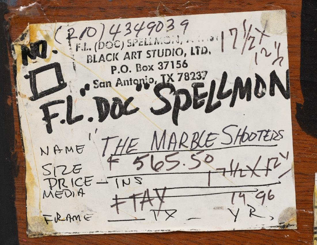 """F.L. """"Doc"""" Spellmon (1925-2008), """"The Marble Shooters"""", - 5"""