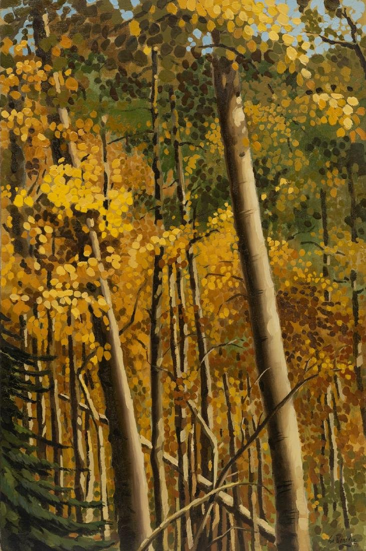 "Ed Bearden (1919-1980), ""Aspens in October"", 1970, oil"