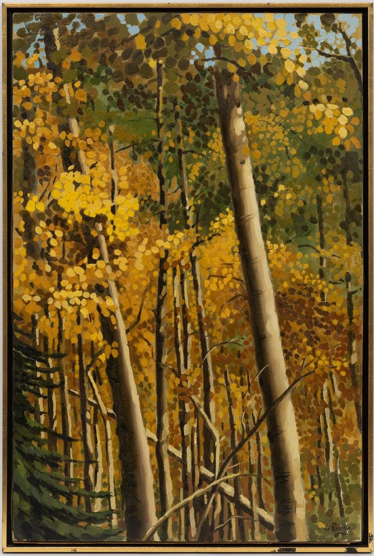 "Ed Bearden (1919-1980), ""Aspens in October"", 1970, oil - 2"