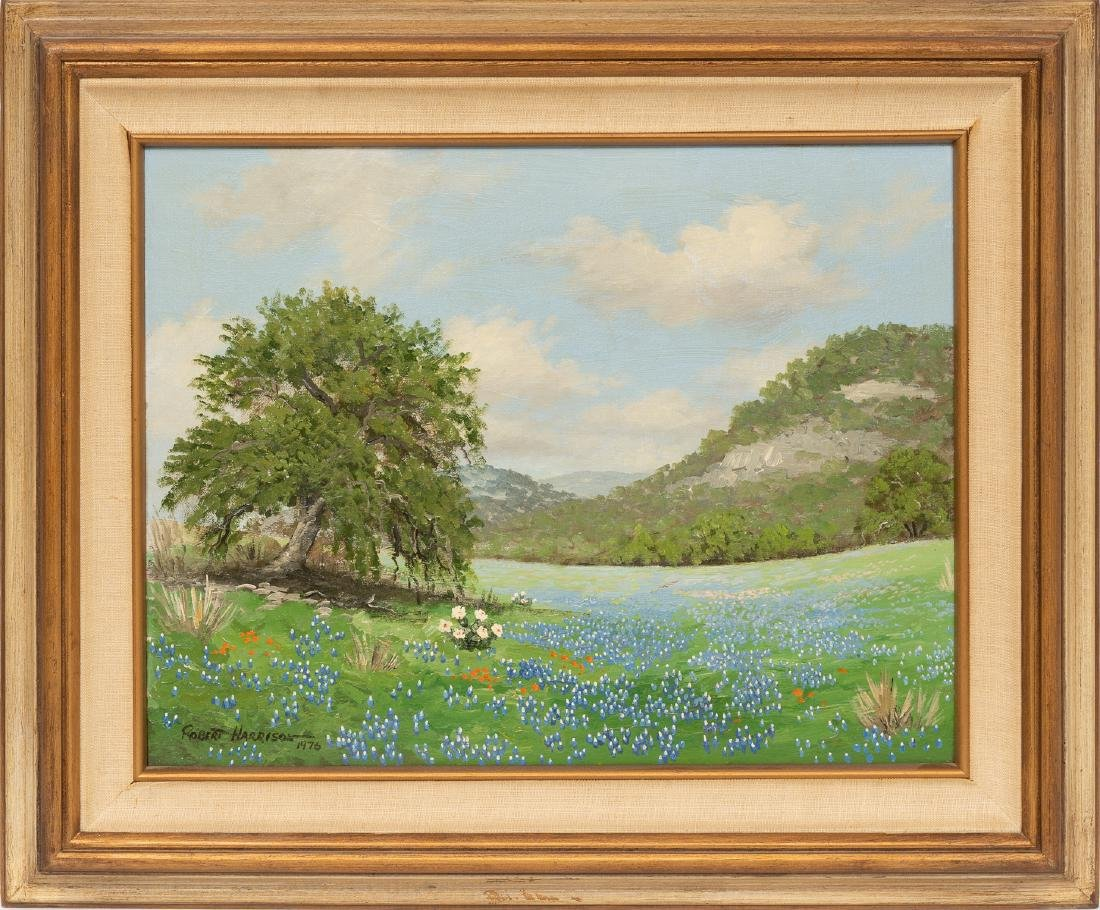 Robert Harrison, Pair of Bluebonnet paintings, 1976 - 2