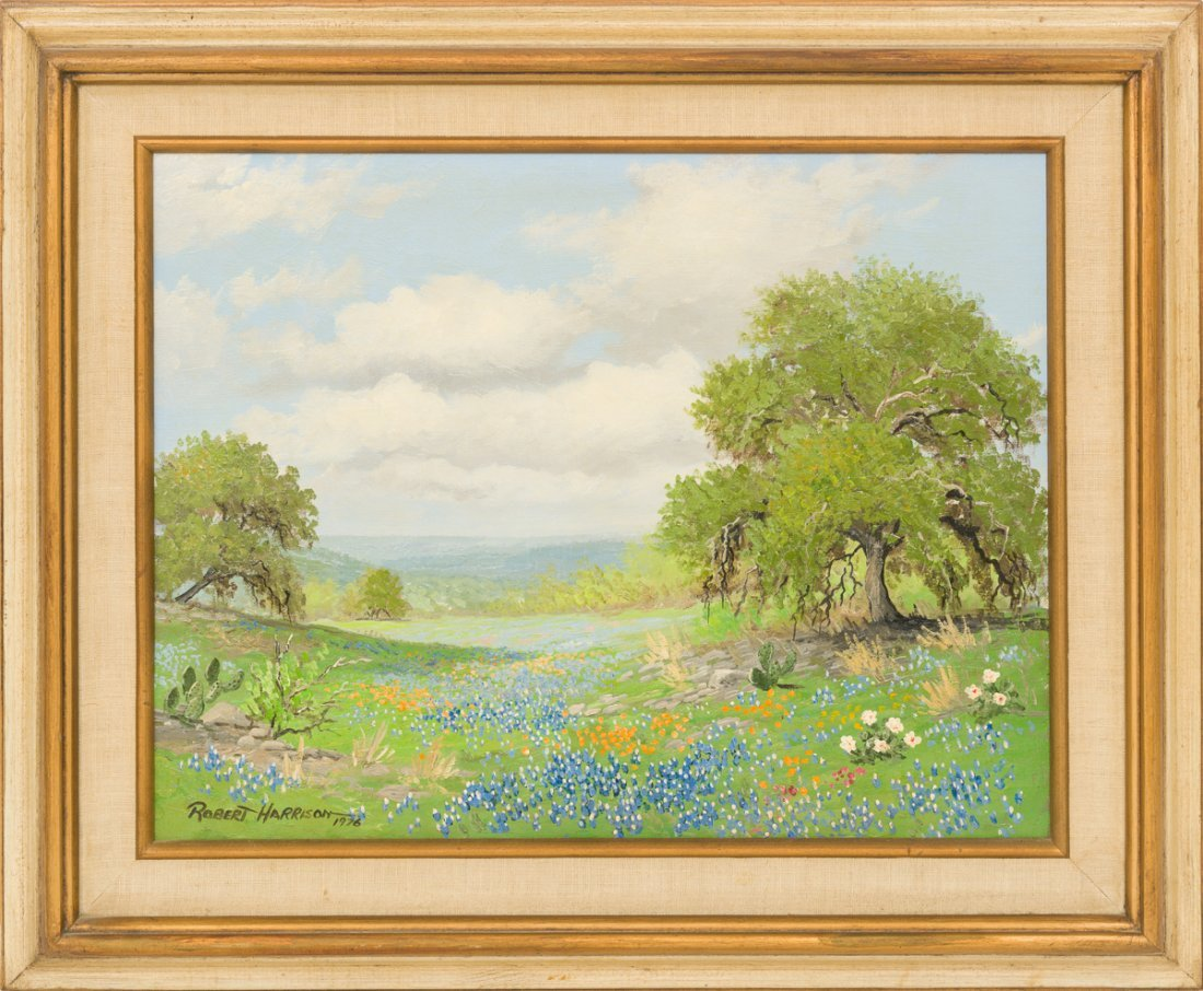 Robert Harrison, Pair of Bluebonnet paintings, 1976 - 6