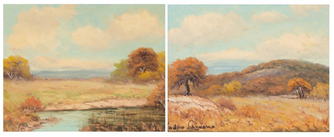 Pedro Lazcano (1909-1973), Pair of Autumn Landscapes