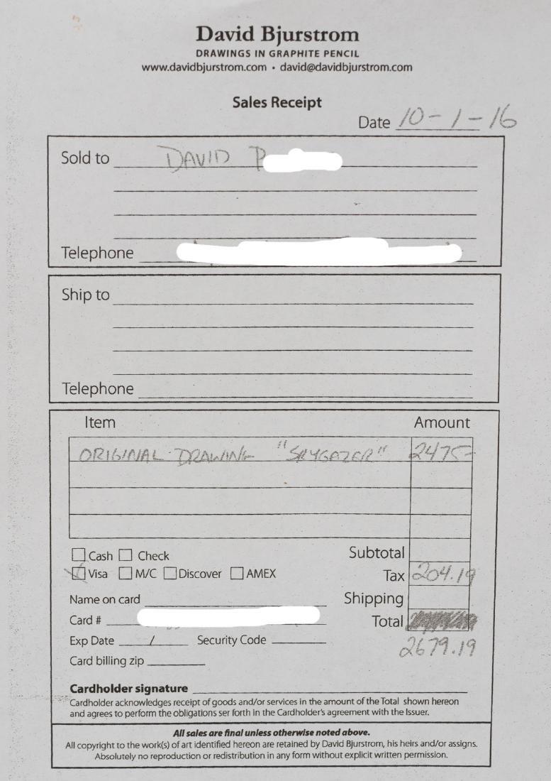 "David Bjurstrom, ""Skygazer"", graphite, 30 x 30"" - 5"