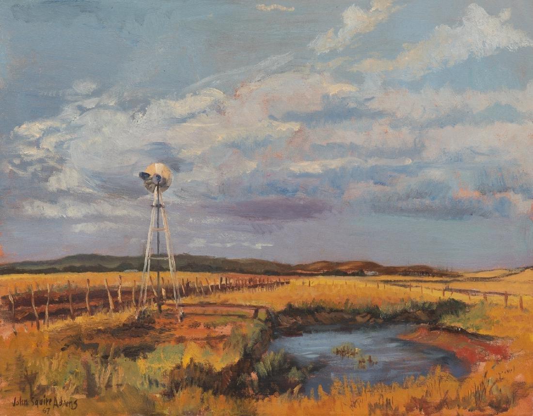 John Squire Adams (b. 1912), Windmill, 1967, oil