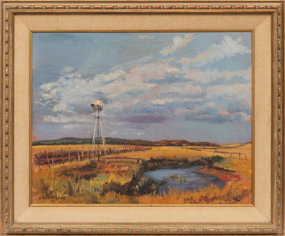 John Squire Adams (b. 1912), Windmill, 1967, oil - 2