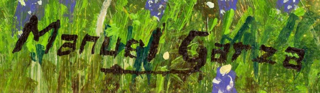 """Manuel Garza (b. 1940), """"Two Horses in Bluebonnets"""" oil - 3"""