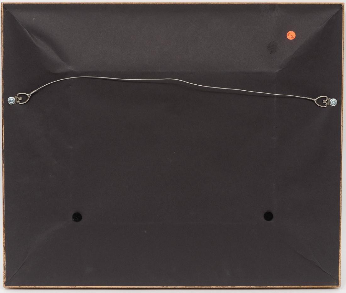 """Manuel Garza (b. 1940), """"Two Horses in Bluebonnets"""" oil - 4"""