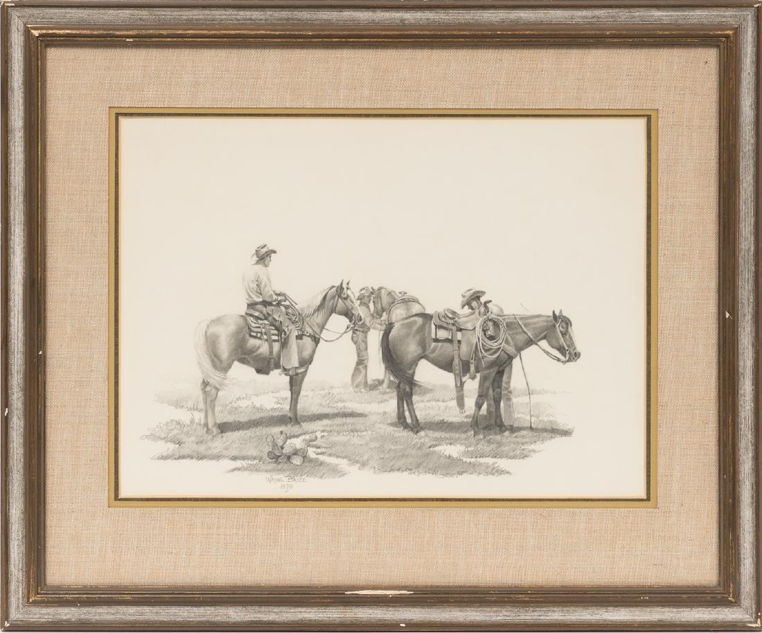 Wayne Baize (b. 1943), Cowboys, 1970, pencil on paper - 2