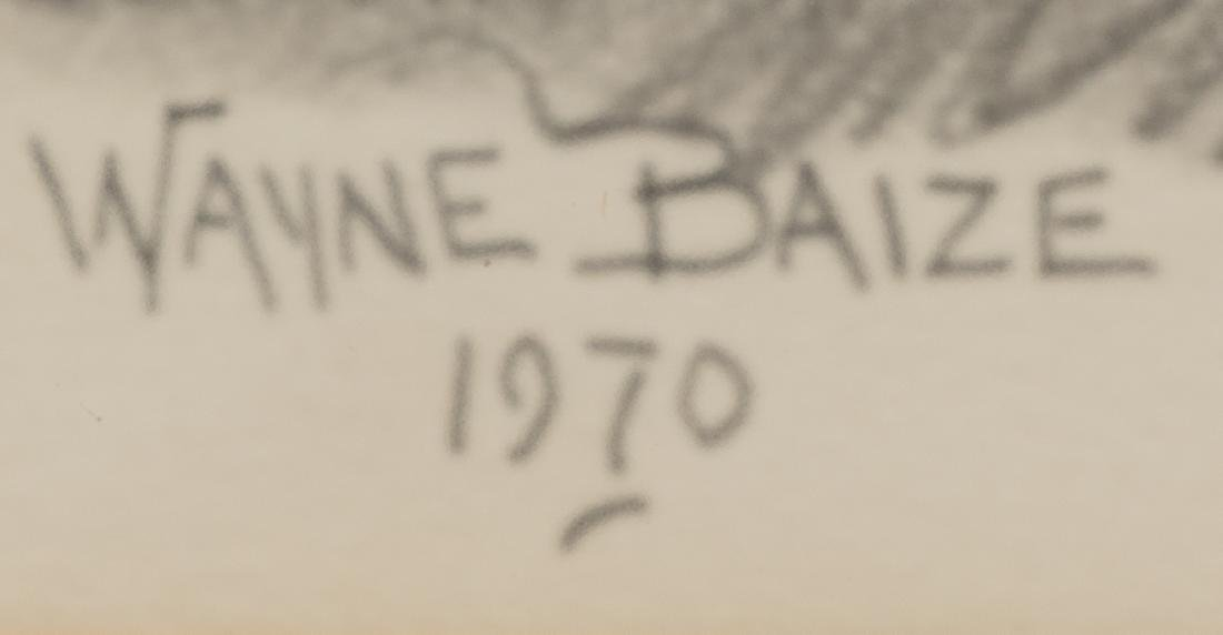 Wayne Baize (b. 1943), Cowboys, 1970, pencil on paper - 3