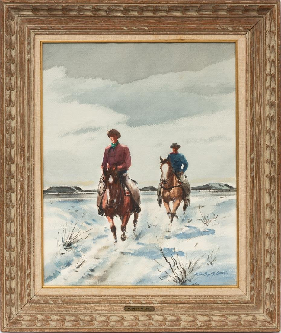 "Stanley Long (1892-1972), ""Crossing the Range"", - 2"