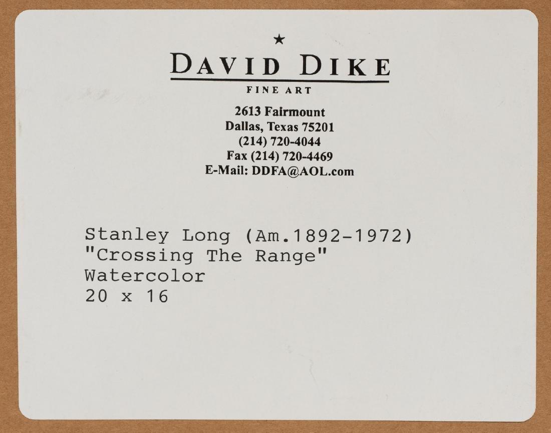 "Stanley Long (1892-1972), ""Crossing the Range"", - 6"
