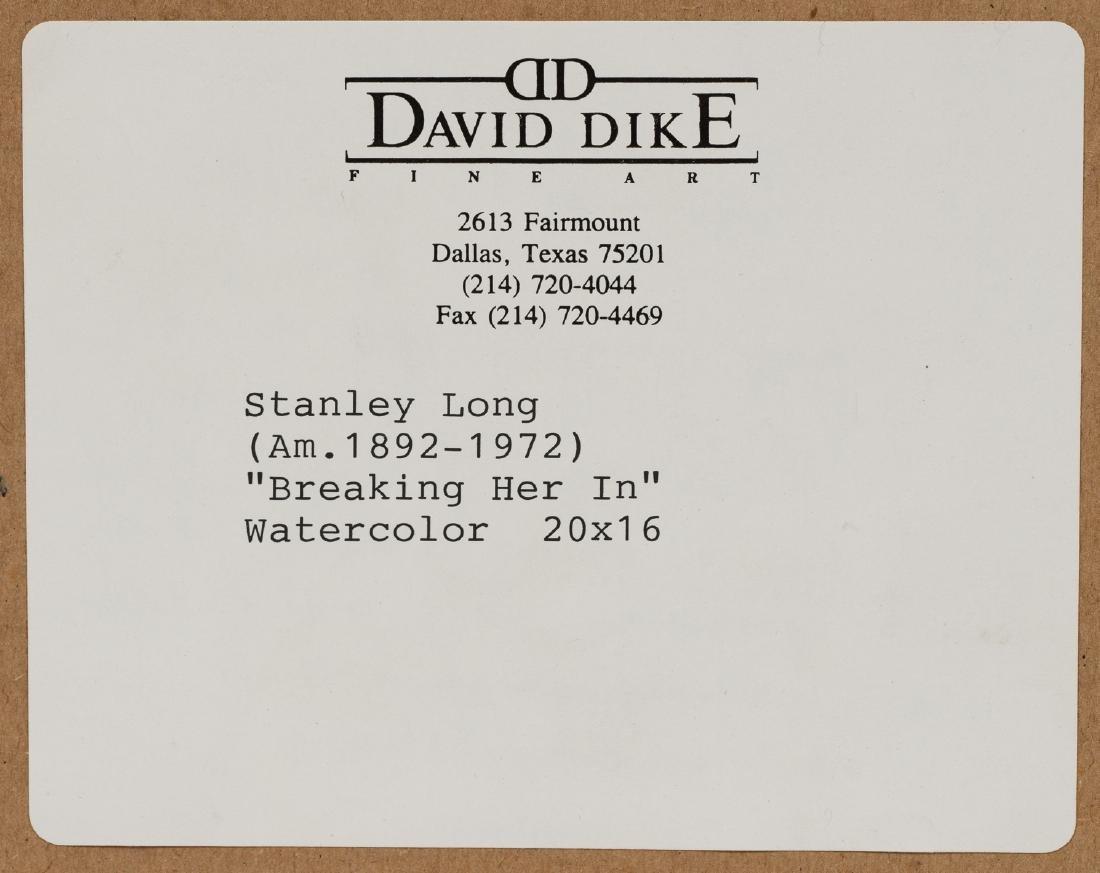 "Stanley Long (1892-1972), ""Breaking Her In"", - 6"