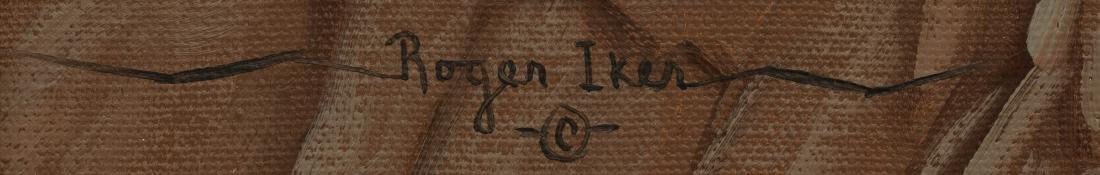 "Roger Iker, Wagon Train, oil on canvas, 18 x 24.5"" - 3"
