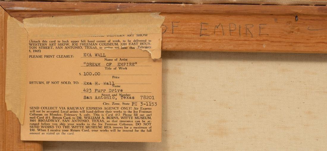 "Exa Wall (1897-1972), ""Dream of Empire"", 1965, oil - 5"