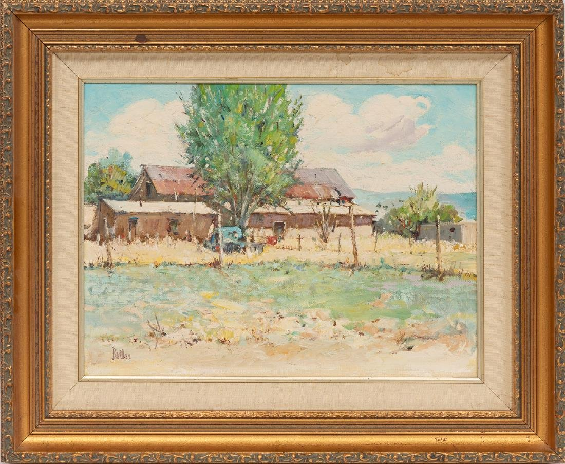 James Butler (b. 1925), House at Nambe, oil - 2