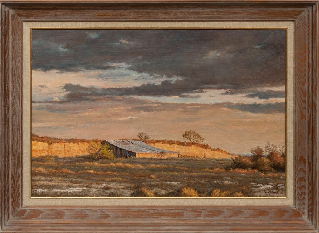 """David Sanders (1936-2013), """"Bluff-Side Barn"""" 1969, oil - 2"""