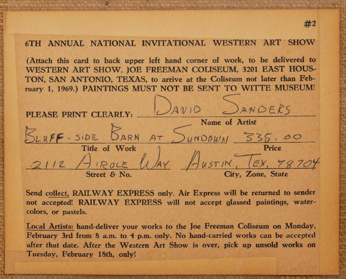 """David Sanders (1936-2013), """"Bluff-Side Barn"""" 1969, oil - 5"""