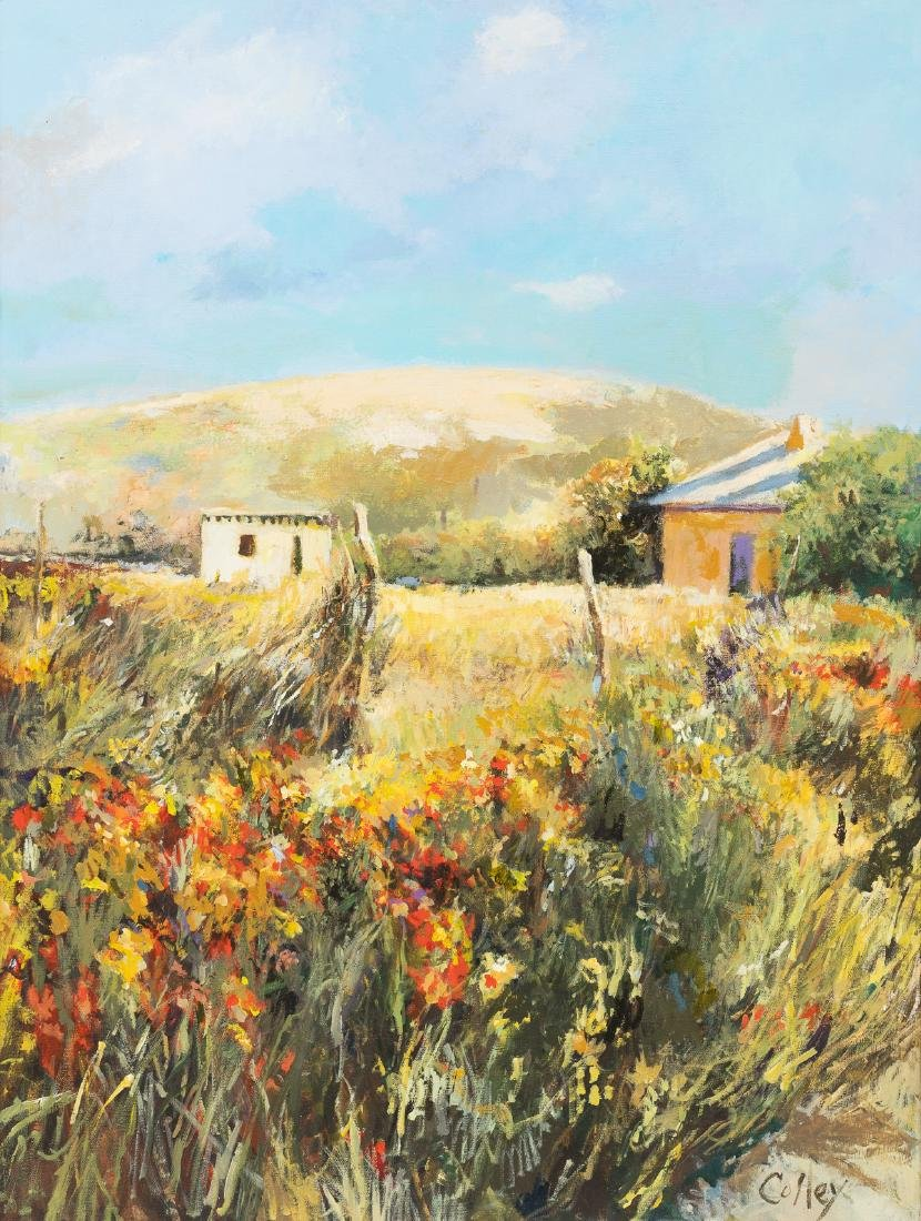 James M. Colley, New Mexico Landscape, oil on canvas,