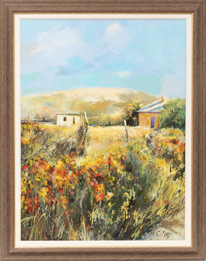 James M. Colley, New Mexico Landscape, oil on canvas, - 2