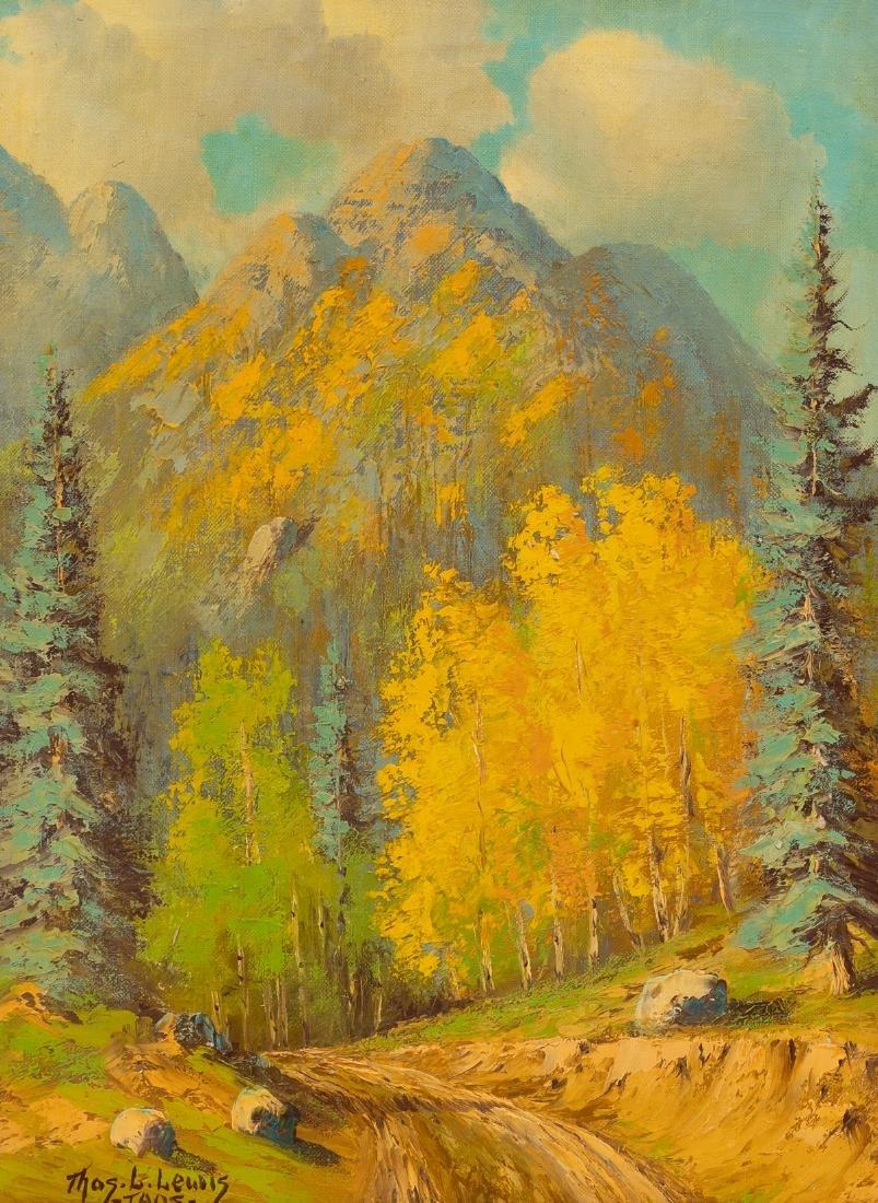 """Thomas L. Lewis (1907-1978), """"Taos"""", oil on canvas,"""