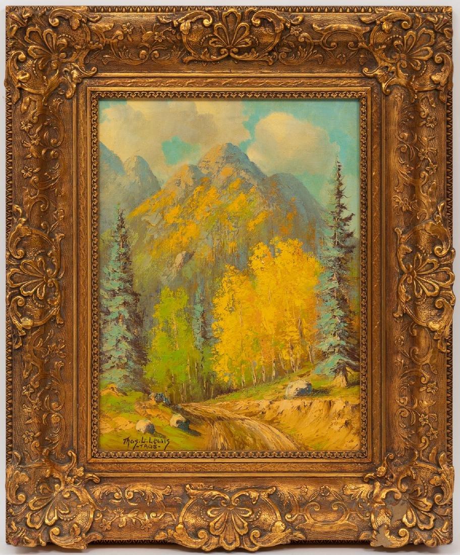 """Thomas L. Lewis (1907-1978), """"Taos"""", oil on canvas, - 2"""
