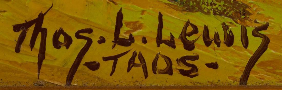 """Thomas L. Lewis (1907-1978), """"Taos"""", oil on canvas, - 3"""