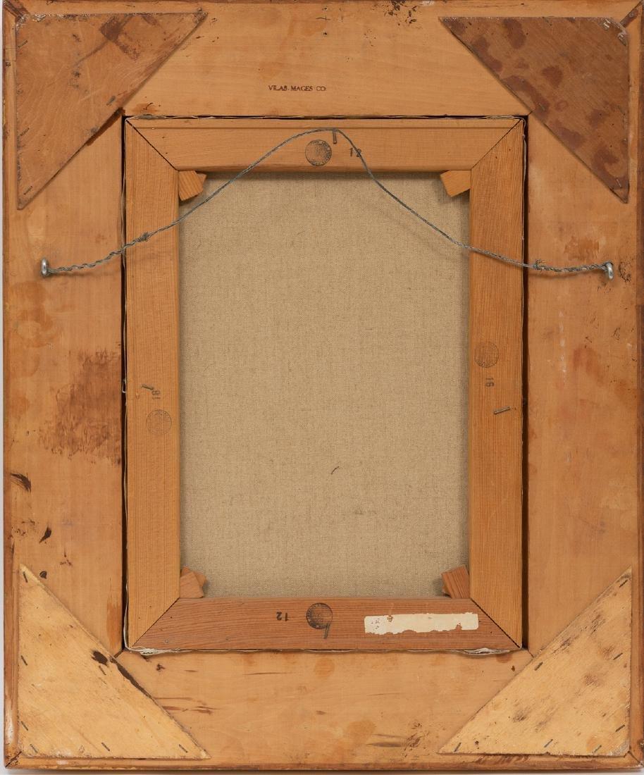 """Thomas L. Lewis (1907-1978), """"Taos"""", oil on canvas, - 4"""